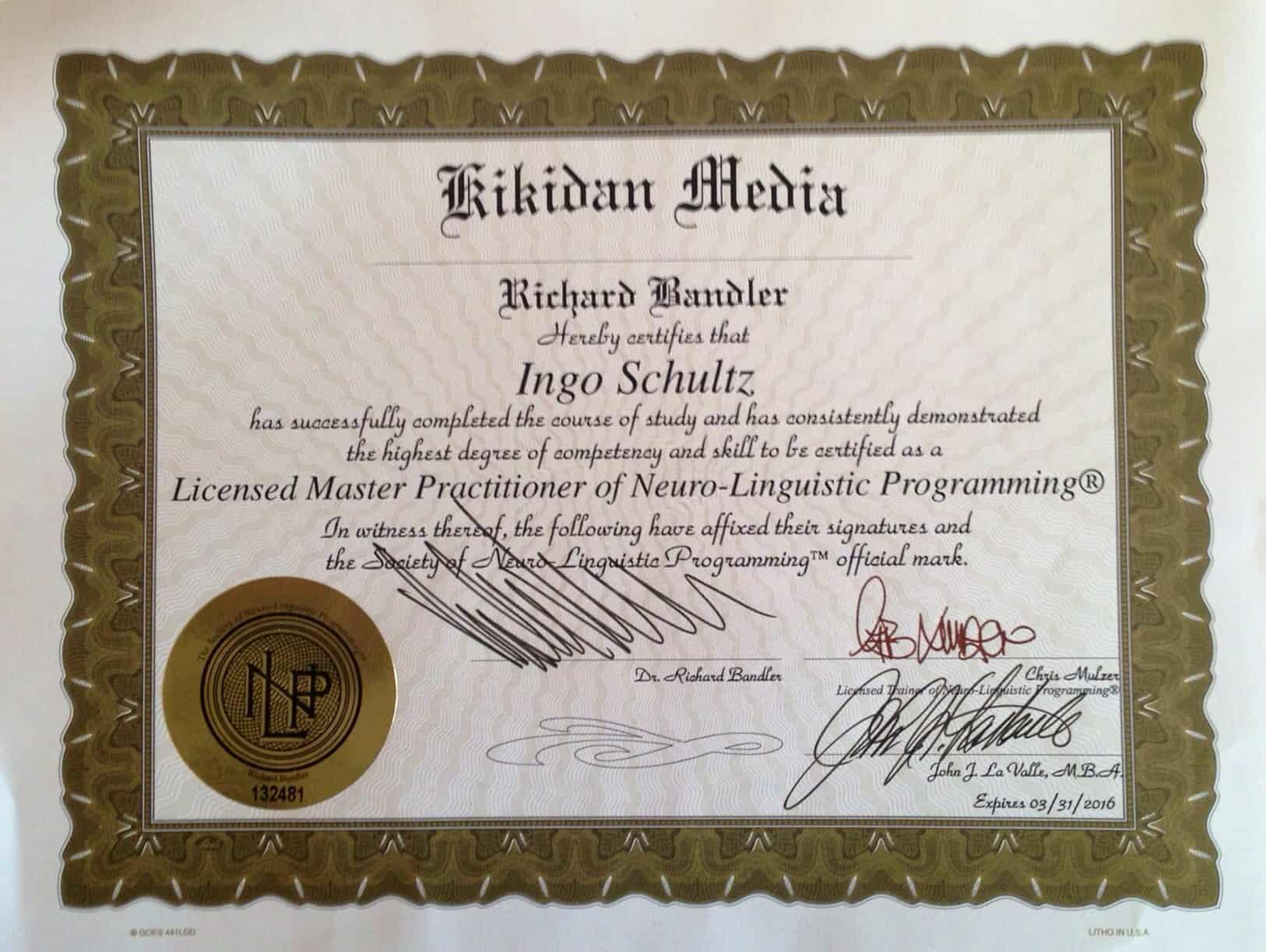 NLP Master, Dr. Richard Bandler